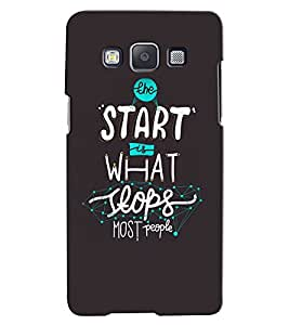 Citydreamz Start Is What Stops People Hard Polycarbonate Designer Back Case Cover For Samsung Galaxy On5 Pro