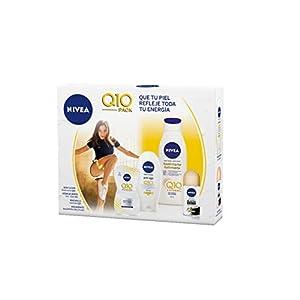 NIVEA Pack Body Q10 con loción reafirmante (1 x 400 ml), crema de manos (1 x 100 ml), desodorante roll on (1 x 50 ml) y…
