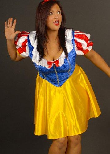 Struts Fancy Dress Damen Plus Größe Snow White Märchen ()