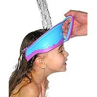 Megatek Protección para ojos, para niños y bebés durante la ducha, impermeable, visera para champú, color aleatorio