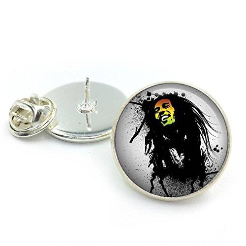 Antike Bronze Bob Marley Anstecknadel| Reggae| Jamaika| Marley| Musik| Rasta Geschenk für ihn| Geschenk für Männer| Geschenk für Freund (Marley Tragen Bob Rasta)