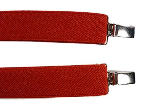 Bretelles entièrement réglable 'Y' forme pour les enfants 5-12 ans Rouge