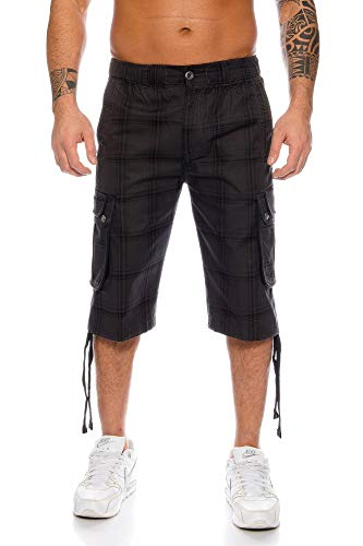 Kendindza Short Homme Pantacourt Bermuda Cargo Loisir Shorts d'été M-4XL (Gris (665), XL)