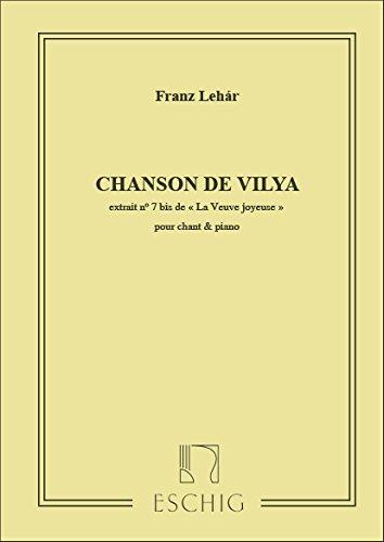 edition-max-eschig-lehar-f-veuve-joyeuse-ved-allegra-7bis-chanson-de-vilya-classical-sheets-voice-so