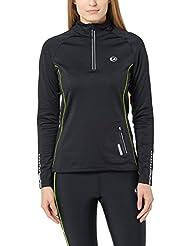 Ultrasport windabweisendes, angerautes Damen Fleece Laufshirt Nelli mit Reflektoren und Quick-Dry-Funktion