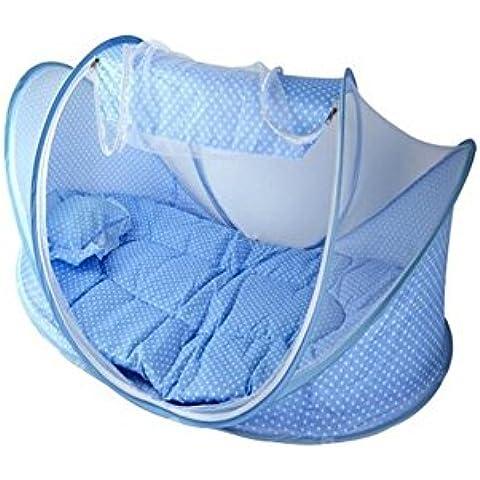 YARBAR Portable bambini cuscino materasso pieghevole Culla Lettino con zanzariera 4-in-1 Set