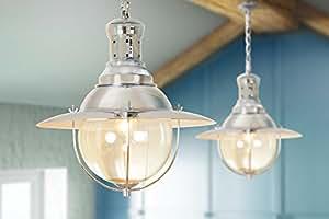 """My-Furniture - Grande suspension """"lampe de pêcheur"""" style rétro industriel, finition chromée - GASTON"""