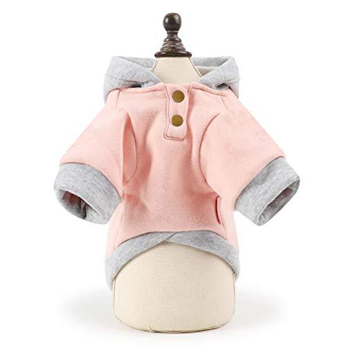 CplaplI Hundepullover mit Kapuze und Knöpfen für Hunde und Welpen, große Taschen, Herbst und ()