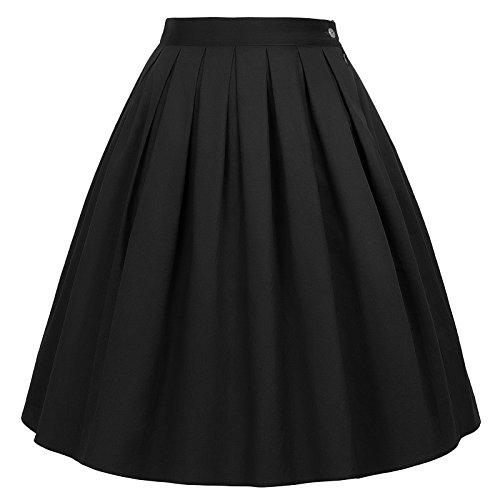 Faldas Blancas Floral Negro Cortas Vintage Pin Up