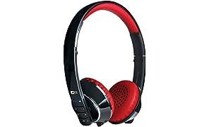 MEE Audio Air Fi Runaway Bluetooth Stereo Wireless Headphones with Microphone (Black/Red)