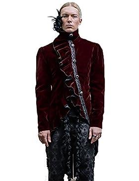 Gótico Retro Mens Gentleman Dovetail Chaquetas Steampunk Victoriano Otoño e Invierno Abrigos para hombres