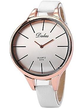Damenuhr Uhr - Dalas Fashion Trendy Quarzuhr Armbanduhr Damenuhr Uhr Weiss + Gold