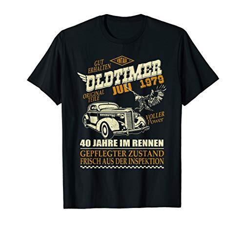 Geschenk zum 40. Geburtstag Jahrgang 1979 Juli 40 Jahre T-Shirt