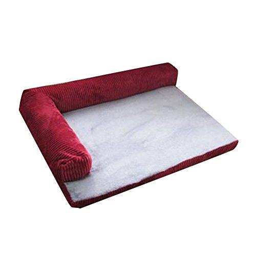 Sofá para Perros Cama para Perros Gato Cesta Mascotas Pequeña Medio Grande Lavable Rojo