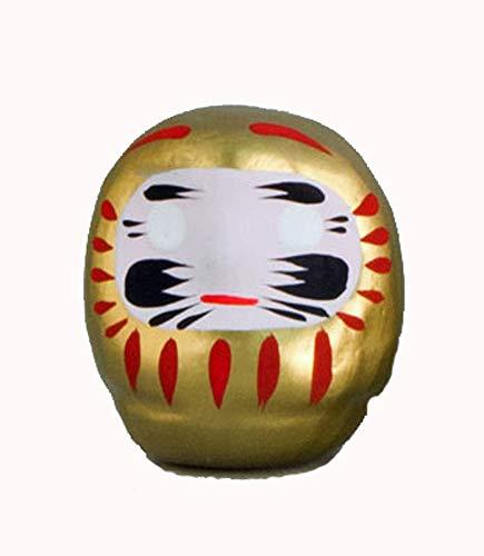 JinShi Studio Daruma, japanische Glücksbringer aus Kyoto, goldfarben für Geld und Glück, 5 cm