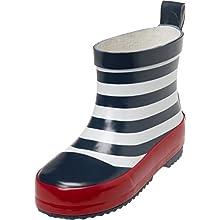 Playshoes Botte de Pluie Design Maritime, Caoutchouc Naturel Mixte Enfant, Bleu (Marine/Weiss 171), 20 EU