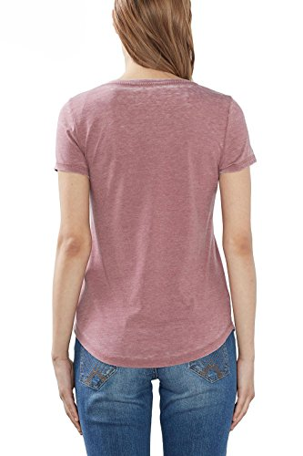 ESPRIT Damen T-Shirt Rot (Plum Red 605)
