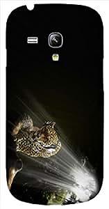 Timpax protective Armor Hard Bumper Back Case Cover. Multicolor printed on 3 Dimensional case with latest & finest graphic design art. Compatible with Samsung S-3Mini - I8190 Galaxy S III mini Design No : TDZ-23964