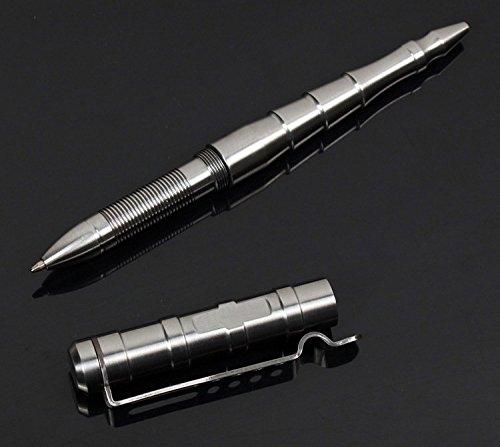 Preisvergleich Produktbild Remize® R009 Taktischer Kugelschreiber - Kubotan Tactical Pen - Selbstverteidigungs-Stift - Glasbrecher (Edelstahl)