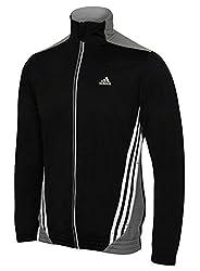 Adidas Mens Essentials 3s Climalite Full Zip Track Top
