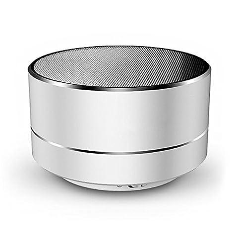 SZXZC Neue drahtlose tragbare Bluetooth-Lautsprecher, Mini-Metall Bluetooth-Lautsprecher für iPhone, Auto, TV, USB und TF-Karte Port, langlebig und kompakt,(Zufällige