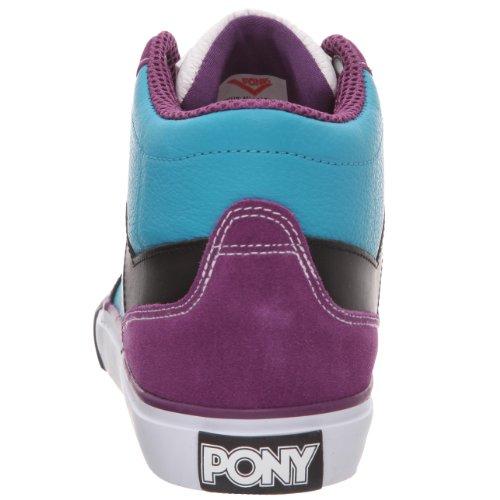 Pony Signature, Baskets mode homme Bleu / Noir / Violet
