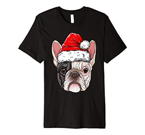 Französische Bulldogge Weihnachtsmann T shirt - Weihnachtsmann Kostüm T Shirt