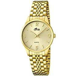 Lotus 15886/3 - Reloj de cuarzo para mujer, con correa de acero inoxidable, color dorado