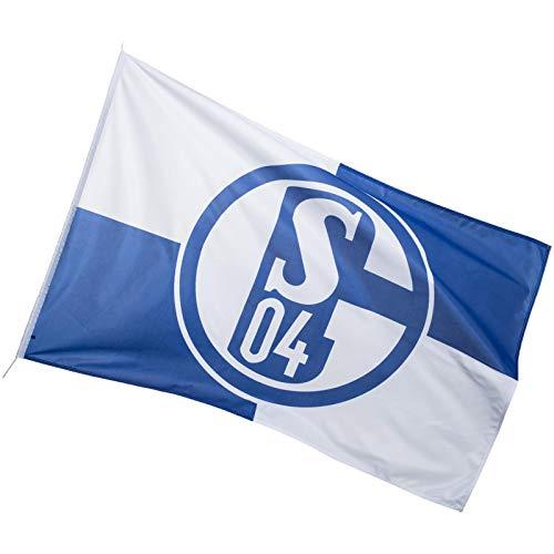 FC Schalke 04 KARO Flagge Fahne Hissfahne Blau 150 cm x 100 cm