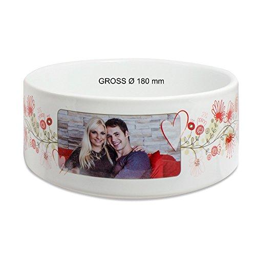 Keramikschüssel - mit individuellem Fotodruck - in zwei Größen, Größe:Groß Ø 180 mm