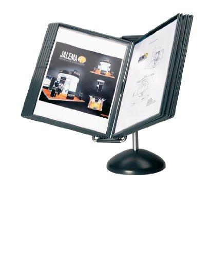 Jalema 7969001flex-o-frame VIP büroständer con 8agujeros A4Business Cards, 1prospekttasche, color negro