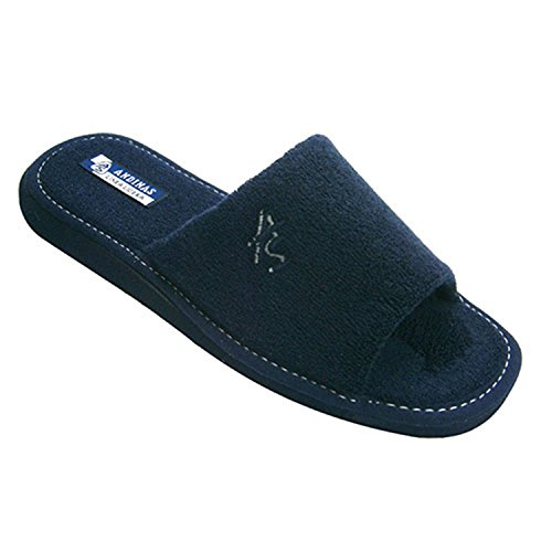 Aprire pantofole punta asciugamano gentleman Andinas blu navy taille 46