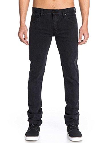 Quiksilver - - Zeppelin Black Jeans pour hommes Brushed Rinse