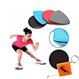 HURI 2pcs Fitness Glidering Slide Discs Core Sliders Sports Workout Exercise Training