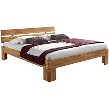 Massivholz Bett Nano 140 X 200 Cm Aus Kernbuche, Doppelbett, Als Ehebett  Verwendbar, Inkl. Rückenlehne, 1 Bett á 140 X 200 Cm