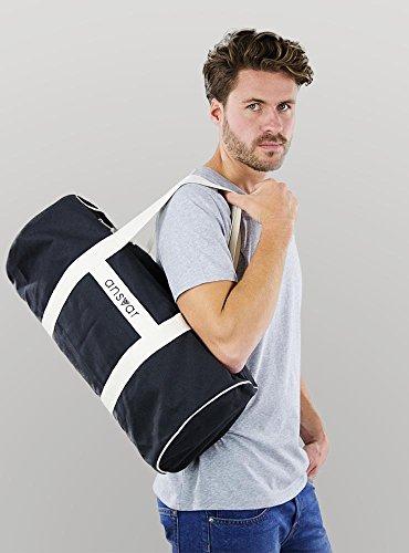 Sporttasche ansvar III aus Bio Baumwoll Canvas - Hochwertige Damen & Herren Sporttasche, Duffle Bag aus 100% nachhaltigen Materialien - mit GOTS & Fairtrade Zertifizierung, Farbe:anthrazit - 5