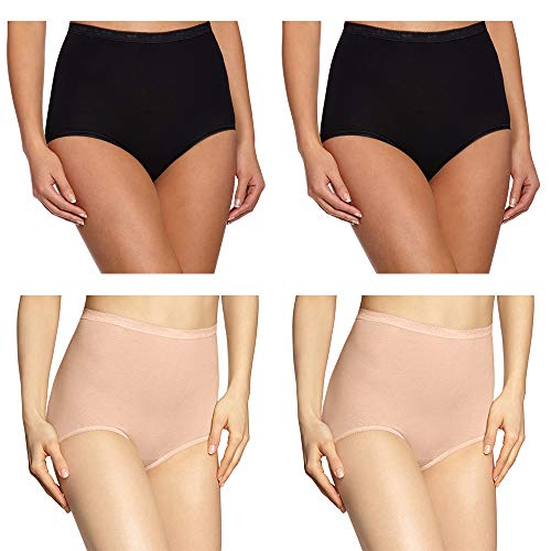 Women's Briefs, High Waist Girls Underwear Premium Cotton Fabric Hip Shaping Knickers Full Coverage Postpartum Mother Panties Comfortable for Everyday Use