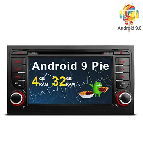 Freeauto Autoradio für Audi/A4/S4/RS4/Seat Exeo 17,8 cm (7 Zoll) Android 9.0 Multi Touch Screen Autoradio DVD-Player GPS CANbus Bildschirm Spiegelfunktion OBD2 Octa-Core 4G RAM 32 GB ROM S4 Core