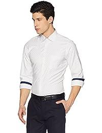 Diverse Men's Printed Slim fit Cotton Formal Shirt