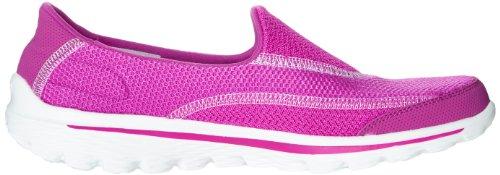 Skechers Go Walk 2Spark, Chaussons Sneaker Femme Rouge (Ras)