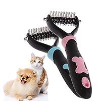 yhdcc44 Dog Grooming Rakes,Pet Cats Brush Dematting Comb Grooming Deshedding Tool 10/13/18 Blades (S, Pink)