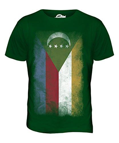 CandyMix Komoren Verblichen Flagge Herren T Shirt Flaschengrün