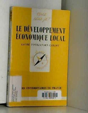 LE DEVELOPPEMENT ECONOMIQUE LOCAL. 1ère édition