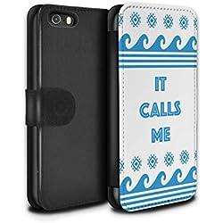 Stuff4 Coque/Etui/Housse Cuir PU Case/Cover pour Apple iPhone 5/5S / Mer/Océan/It Calls Me Design/Dessin Animé Princesse Collection