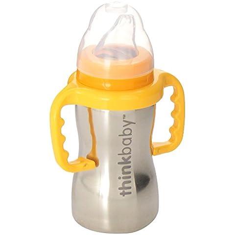 Thinkbaby, Sippy de acero, una botella de Sippy, 1 Copa de 9 oz - Piense