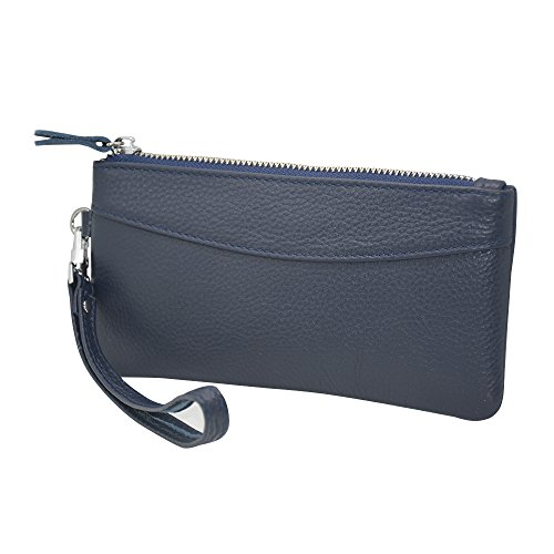 rnker Mehrzweck Genuine Leder Kupplung Wallet/walletlet Kupplung/Handtaschen Wallet/Frauen Börsen/Handy Fall für iPhone 5/5S, iPhone 6, Galaxy S6 (Blau) (Brieftasche, 5 Clutch Fall Blau Iphone)