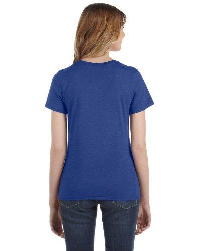 Anvil Damen T-Shirt, leicht tailliert Heather Blue