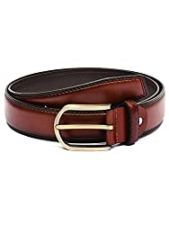 BuckleUp Mens Tan Leather Belt