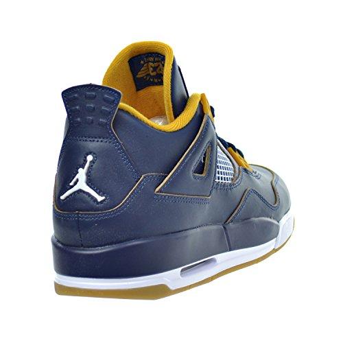 Nike Air Jordan 4Rétro BG Chaussures De Sport Enfants mid nvy/mtlc gld str-gld lf-wh