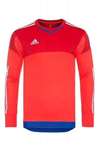 adidas Performance adizero GoalKeeper Jersey PL Shirt Herren Torwarttrikot Sportshirt Rot S17937, Größenauswahl:5 (S-M)